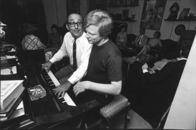 Gulda and Mulligan am Klavier1963 - copyright Lisl Steiner